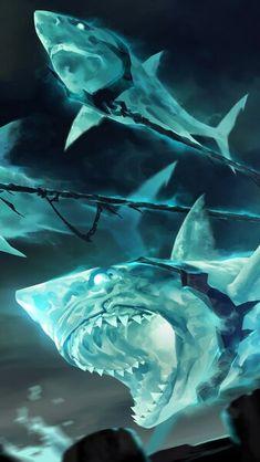 Legends of Runeterra Shark Chariot HD Mobile, Smartphone and PC, Desktop, Laptop wallpaper 216 Mythical Creatures Art, Magical Creatures, Fantasy Creatures, Fantasy Monster, Monster Art, Creature Concept Art, Creature Design, Fantasy World, Dark Fantasy