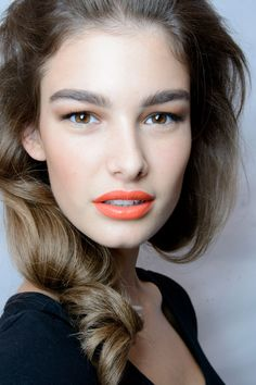 Ophelie Guillermand backstage at Dsquared² Spring 2014 RTW
