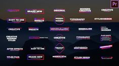 Buy 30 Colorful Titles by on VideoHive. 30 Colorful titles is a universal After Effects template with a fantastic collection of 30 clean, colorful and classi. Creative Typography, Modern Typography, Twitch Streaming Setup, Vfx Tutorial, Place Quotes, Mirror Photography, Decision Tree, Lower Thirds, Corporate Presentation