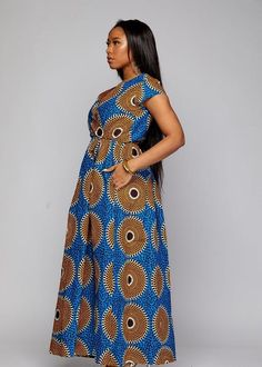 D'IYANU Hadiya African Print Faux Wrap Maxi Dress   Etsy African Formal Dress, Best African Dresses, Latest African Fashion Dresses, African Print Fashion, African Prints, Ankara Dress, Ankara Gowns, Nigerian Outfits, Plus Size Skirts
