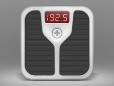 iOS icon of a scale found on Dribbble.