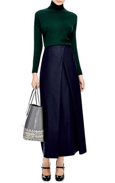Felted-Wool Faux Wrap Maxi Skirt by Suno - Moda Operandi