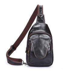 Cheap cross body bags, Buy Quality body bag directly from China genuine leather Suppliers: Men Oil Wax Genuine Leather Cowhide fashion Messenger Shoulder Cross Body Bag Travel Sling Chest Back Day Pack Vintage Messenger Bag, Messenger Bag Men, Crossbody Messenger Bag, Leather Crossbody, Crossbody Bags For Travel, Travel Handbags, Luxury Handbags, Zipper Bags, Cow Leather