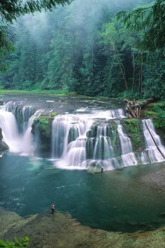 a serene and surreal experience, Lower Lewis River Falls, WA