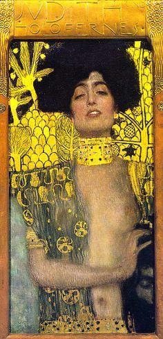Judith and the Head of Holofernes(Judith I). Gustav Klimt. 1901.Österreichische Galerie Belvedere, Vienna, Austria.