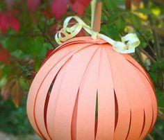 Paper pumpkin...