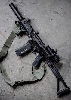 P* Mini Galil (airsoft) Weapons Guns, Guns And Ammo, Battle Rifle, Shooting Guns, Custom Guns, Military Guns, Assault Rifle, Cool Guns, Airsoft