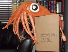 The Scottish Squid. He hangs out at the visitor center for the Scottish Association for Marine Science.