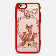 FOX & FLOWERS by Monika Strigel Crystal Clear iPhone 6 - New Standard Case | @casetify