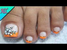 Pretty Toe Nails, Cute Toe Nails, Hot Nails, Toe Nail Art, Hair And Nails, Acrylic Nails, Summer Toe Designs, Grow Nails Faster, Manicure And Pedicure