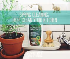 Time to get your kitchen ready for fresh produce and spring recipes! Tackle kitchen cleaning with these tips. #springcleaning
