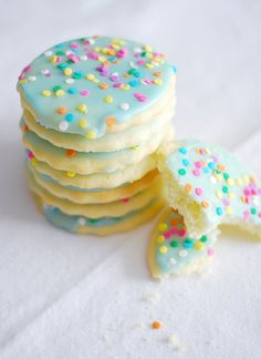 Blue confetti cookies