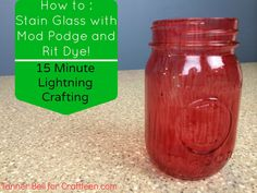 How to : Stain Glass with Rit Dye and Mod Podge - Craft Teen