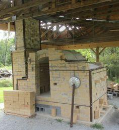 Crawford Horne's kiln at Thistle Glen Pottery, WV Bourry box style.  built 2013