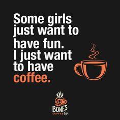 Caffeine is fun. #coffee #irishcream bonescoffee.com