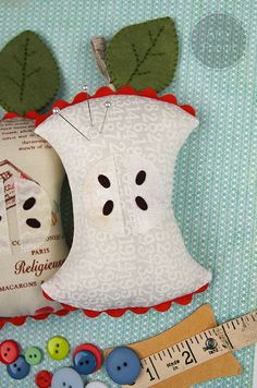 Sizzix Die Cutting Inspiration and Tips: Die Cutting Fabric: Apple Core Pincushion