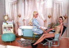 At the beauty parlor Barbie       Doll Dioramas | Doll Divas - Diorama Portfolio