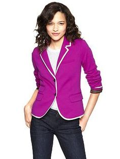 Piped academy blazer from Gap
