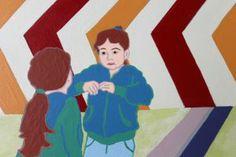 I GOT IT, I GOT IT. Latex on panel by Mary Balda.