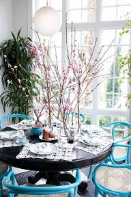 Plum FLOWERS by mary kathryn paynter FLOWERS UNDER $50: BLOOMING BRANCHES TEA PARTY Via design sponge