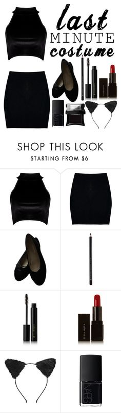 """Black Cat"" by sprinkle-fashion ❤ liked on Polyvore featuring Boohoo, Chanel, Illamasqua, Forever 21 and NARS Cosmetics"