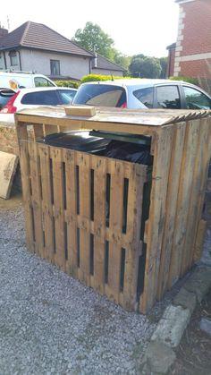 Pallet Garbage Bin Storage Shed Pallet Sheds, Pallet Cabins, Pallet Huts & Pallet Playhouses
