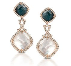 An elegant look. #earrings