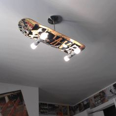 Lighting is also very important. Obviously this is a skateboard but using a part of a motorcycle would be cool. Again seek out a local artist who would be willing to use your place as a showcase room or negotiate a deal. This again expands your audience immediately.