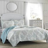 Found it at Joss & Main - Saltwater Reversible Coverlet Set by Laura Ashley