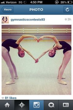 Image result for gymnastics poses for two people