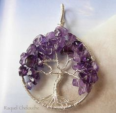 Sterling Silver Spirituality Amethyst Tree of by Raquelchelouche