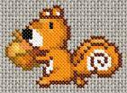 Squirrel cross-stitch