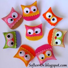 Felt Owls (maybe pins, maybe magnets...)
