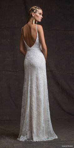 limor rosen bridal 2016 treasure camille sleeveless sheath wedding dress beaded straps low back view