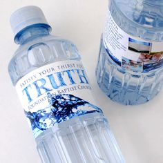 Custom Bottled Water for Foundation Baptist Church. #church #nonprofit #waterbottles