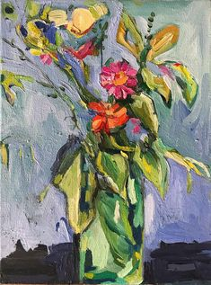 Yesterdays Flowers original oil painting by Sue Kaplan - botanical art for sale South African Artists, Oil Painting Flowers, Botanical Art, State Art, Online Art Gallery, Art For Sale, New Art, June, Floral
