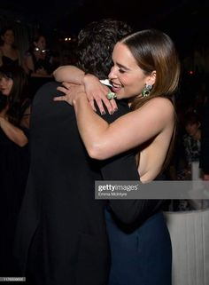 Kit Harington and Emilia Clarke photographed at the 2019 Netflix Primetime Emmy Awards afterparty at Milk Studios in Los Angeles, California. Kit Harington, Emilia Clarke, Colin Morgan, Joseph Morgan, Kit And Emilia, Daenerys Targaryen, Jon Snow And Daenerys, Game Of Thrones Cast, Milk Studios