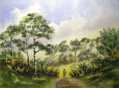 Paint Watercolours With Colin Walters..... A Walk In The Country