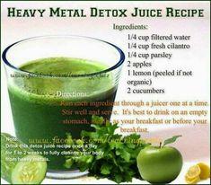 Heavy Metal Detox Juice in 2020 Detox Juice Cleanse, Healthy Juice Recipes, Healthy Detox, Healthy Juices, Detox Recipes, Detox Drinks, Healthy Drinks, Detox Juices, Detox Tea
