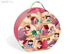 Hledáte pro své děťátko pěknou edukační hračku? Puzzle Giant Floor Feerik z 36 dílů v kulatém kufříku je nadčasová hračka pro všechny dívky i chlapce od 4 let.