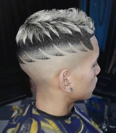 Men's Hair, Haircuts, Fade Haircuts, short, medium, long, buzzed, side part, long top, short sides, hair style, hairstyle, haircut, hair color, slick back, men's hair trends, disconnected, undercut, pompadour, quaff, shaved, hard part, high and tight, Mohawk, trends, nape shaved, hair art, comb over, faux hawk, high fade, spiky, slick, crew cut, zero fade, pomp, ivy league, bald fade, razor, spike, barber, bowl cut, 2018, hair trend 2019, men, women, girl, boy, Back to School Baddie Hairstyles, Boy Hairstyles, Undercut Hairstyles, Short Hair Cuts, Short Hair Styles, Two Block Haircut, Men's Hair, Hair Art, Barbers
