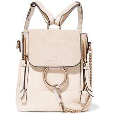 Chloé Mini Faye Backpack (€1.250) ❤ liked on Polyvore featuring bags, backpacks, mini bag, pink backpack, daypack bag, rucksack bags and mini backpacks