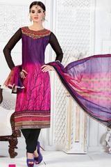 Violet and Pink Churidar Kameez Set  https://www.ethanica.com/products/violet-and-pink-churidar-kameez-set
