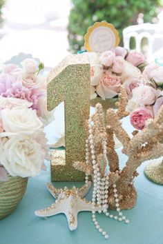 Mermaid + Under The Sea 1st Birthday Party via Kara's Party Ideas | KarasPartyIdeas.com (46)