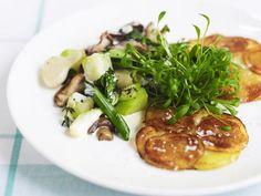Probieren Sie die leckeren Kartoffelpuffer mit Kresse von Eat Smarter oder eines unserer anderen gesunden Rezepte!