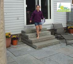 stone patio steps - Google Search