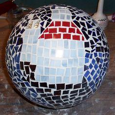 I love this gazing ball!  St. Joe lighthouse.