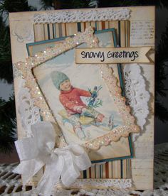 Possible idea for use of antique Xmas or b'day cards?