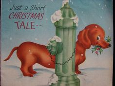"""VINTAGE """"JUST A SHORT CHRISTMAS TALE!"""" CHRISTMAS GREETING CARD   eBay"""