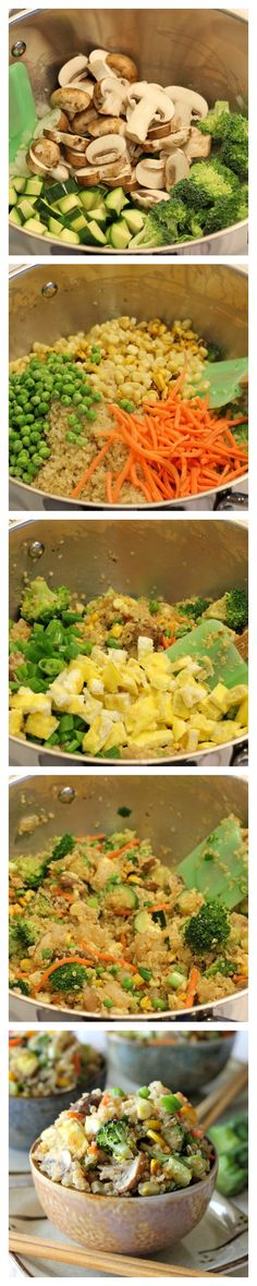 "Quinoa Veggie ""Fried Rice"" - Quinoa is a wonderful substitute in this protein-packed veggie fried rice!"